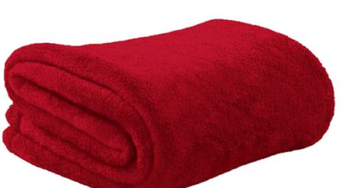 RED COLOUR SUPER ULTRASOFT FLEECE THROW BLANKET
